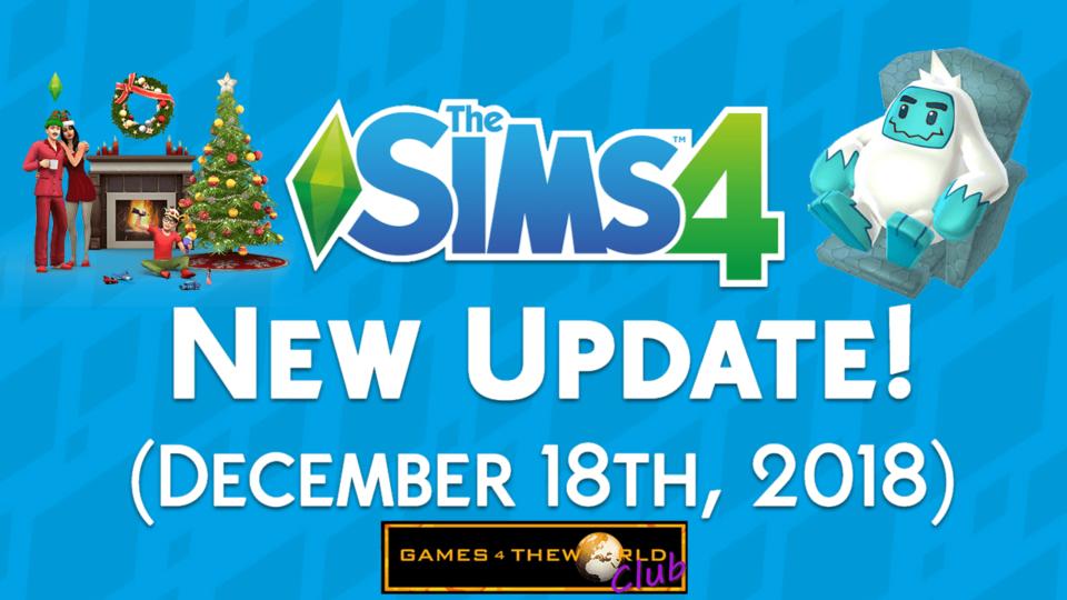 The Sims 4 Christmas + Yeti Update 1.48.90 G4TW