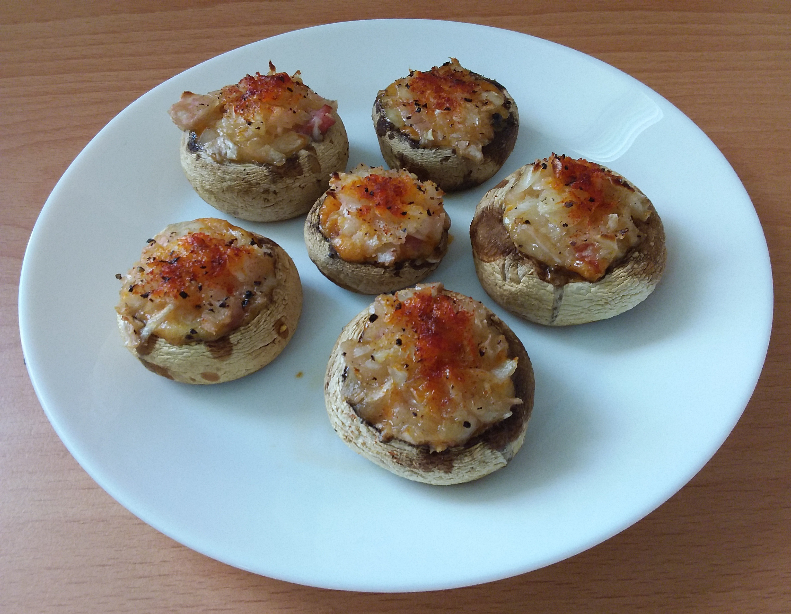 Mozzarella and Bacon Stuffed Mushrooms - The Sim Architect
