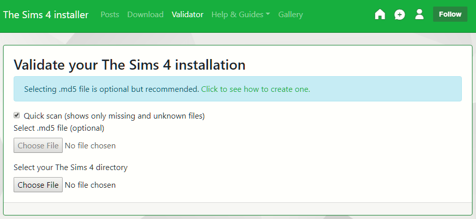 The Sims 4 Validator