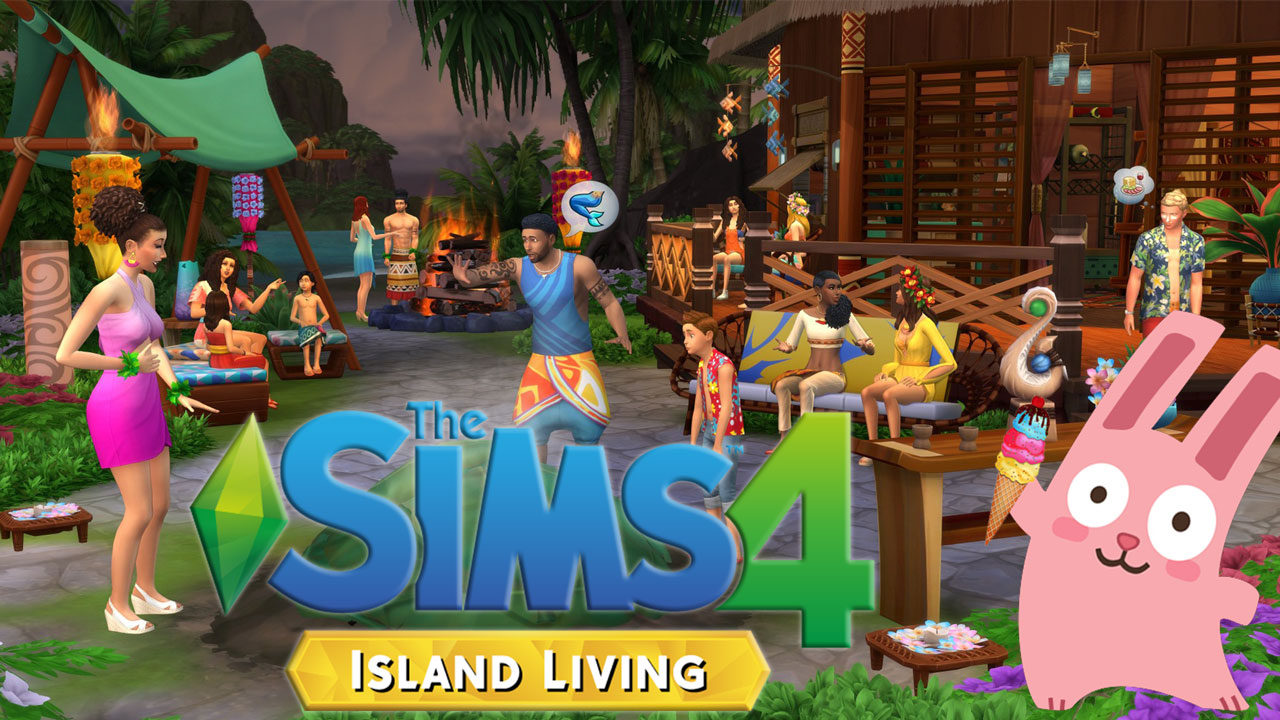The Sims 4 Island Living with Frozen Bunny