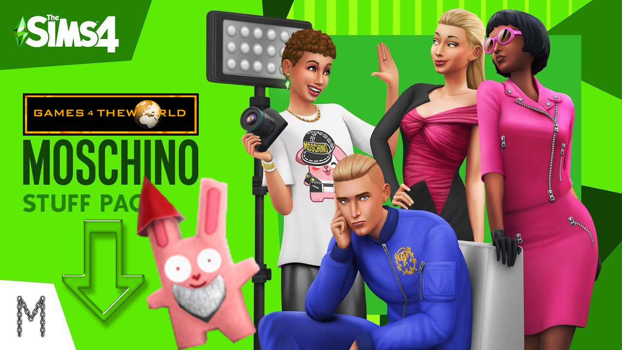 The Sims 4 Moschino Stuff Pack [Games4TheWorld]