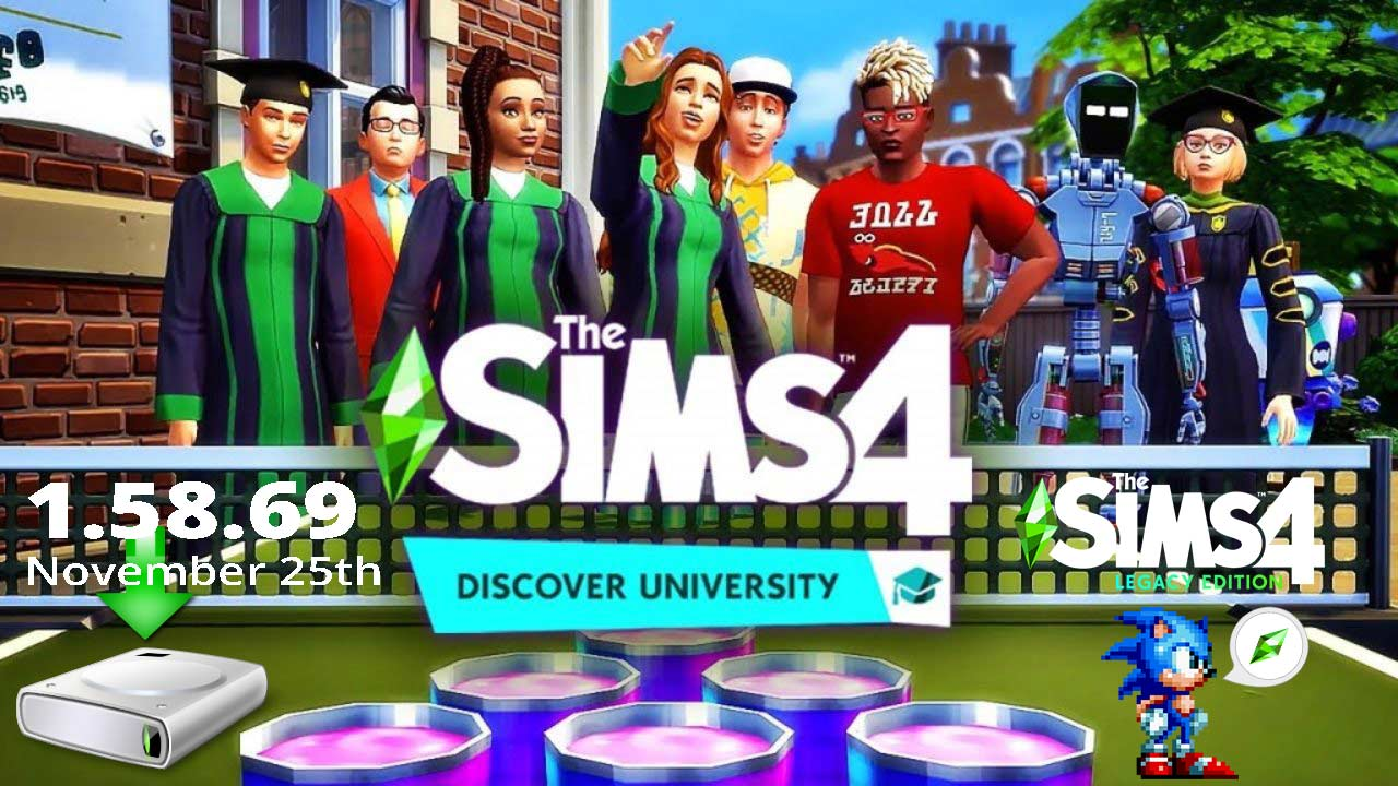 The Sims 4 1.58.69.1010 Discover University November 25th Patch + Legacy Edition 1.58.69.1510 All in One Portable - The Sim Architect