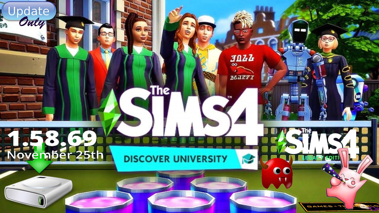The Sims 4 Discover University November 25th Patch 1.58.69.1010 Update Only G4TW - The Sim Architect