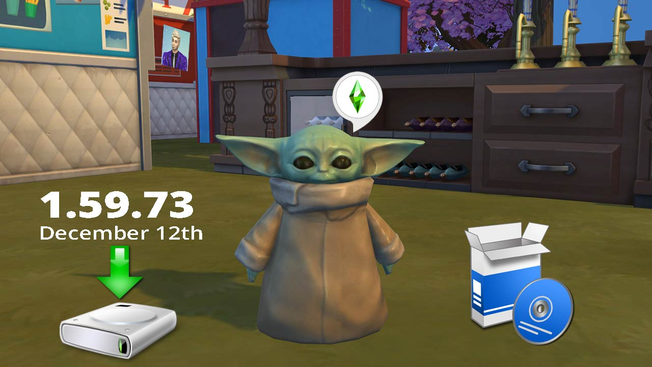 The Sims 4 1.59.73.1020 All in One Portable Including December 2019 Update [Baby Yoda] - The Sim Architect