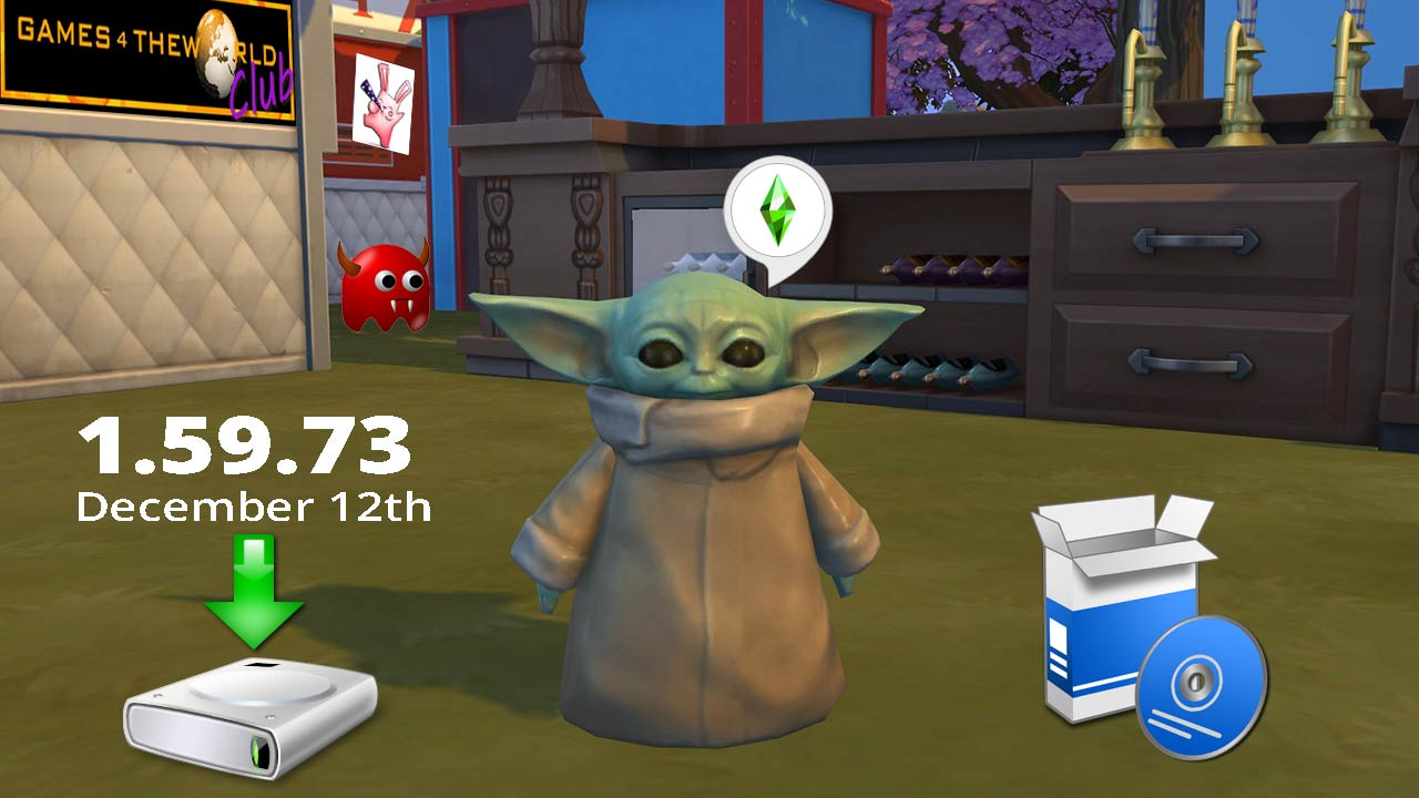 The Sims 4 December 12th Patch 1.59.73.1020 Update Only [Baby Yoda] G4TW - The Sim Architect