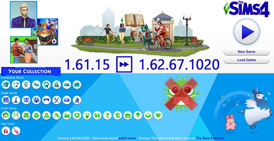 Sims 4 1.62.67.1020 Update Only