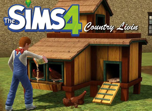 The Sims 4 Country Livin' Chicken Coop