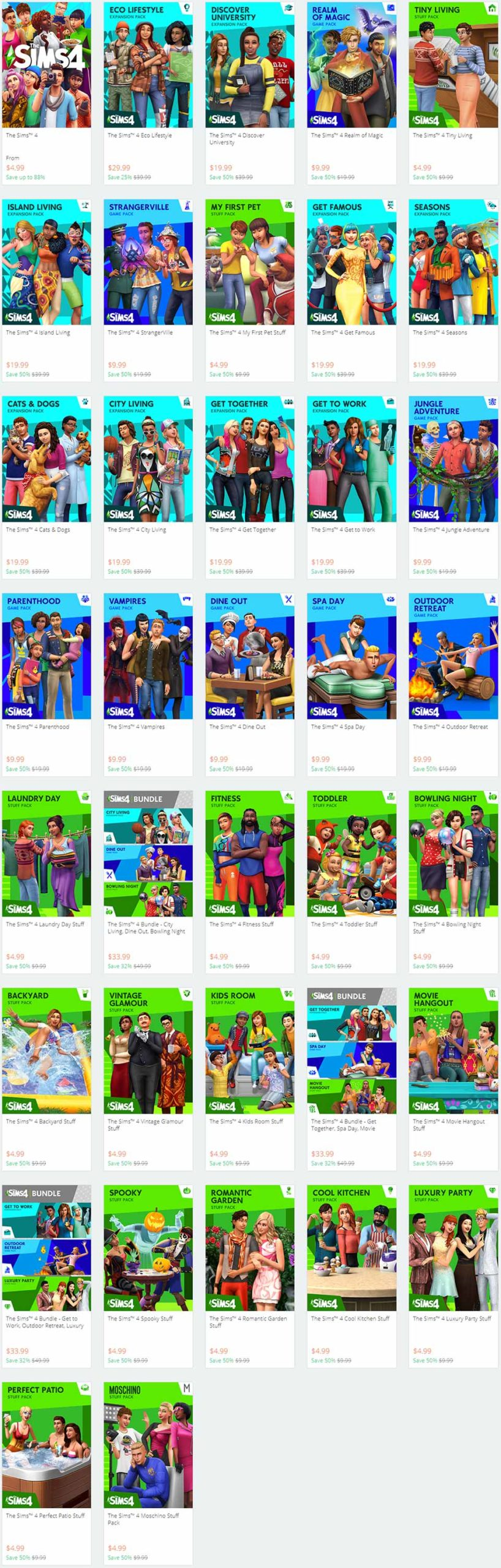 The Sims 4 Sale July 2020 - Price List