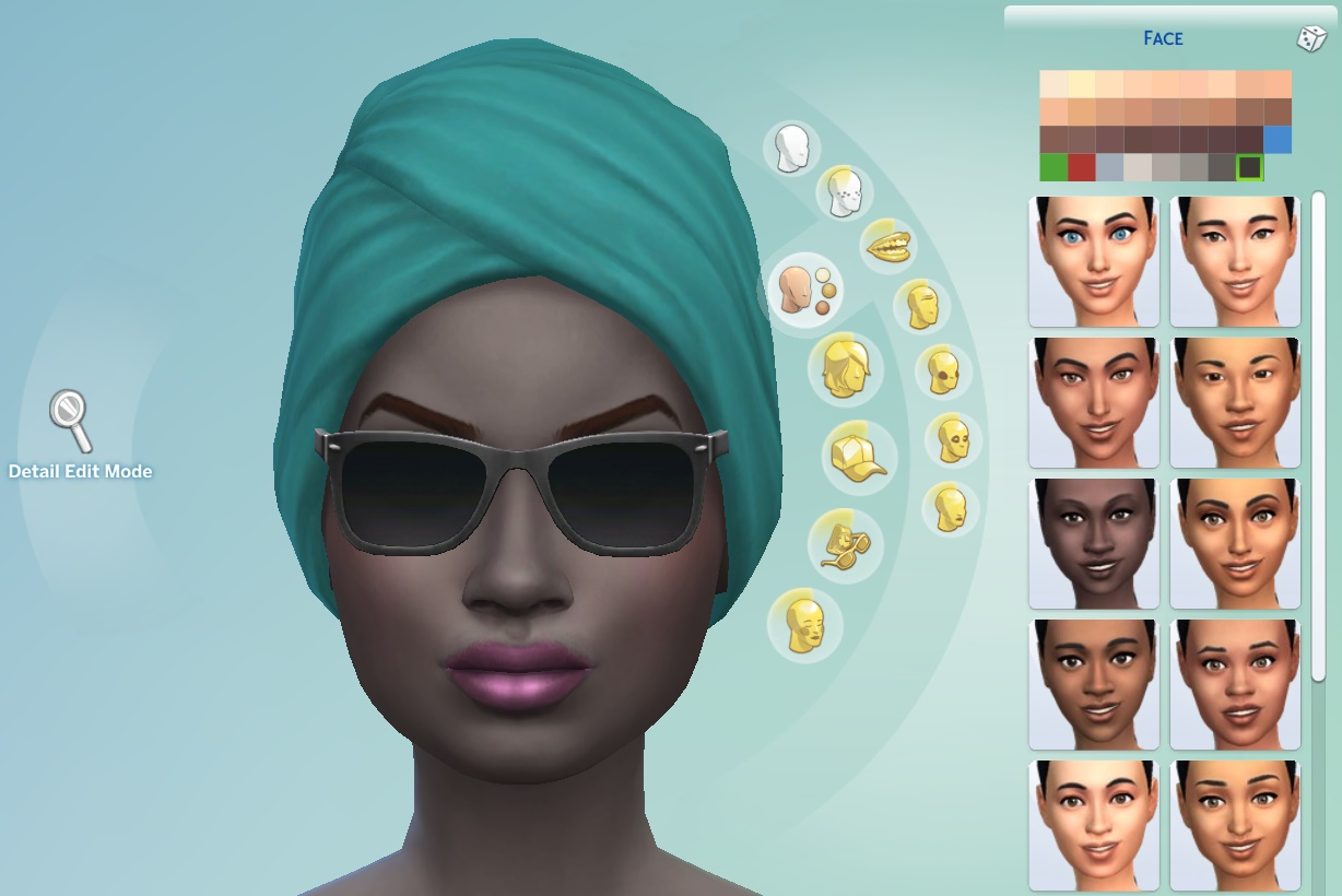 The Sims 4 Skin Colors