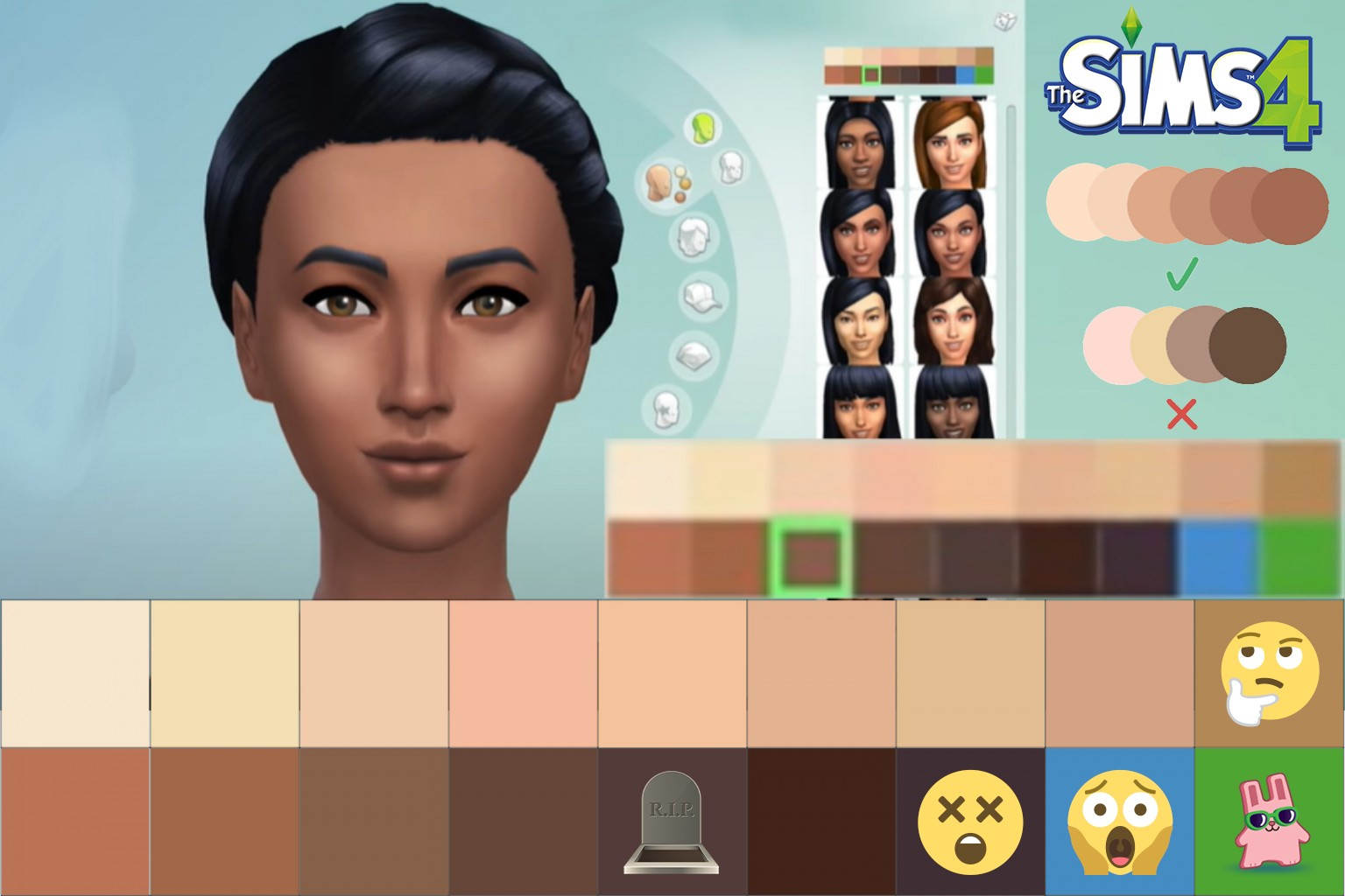 The Sims 4 Skin Tone Updates [October & December 2020] - The Sim Architect