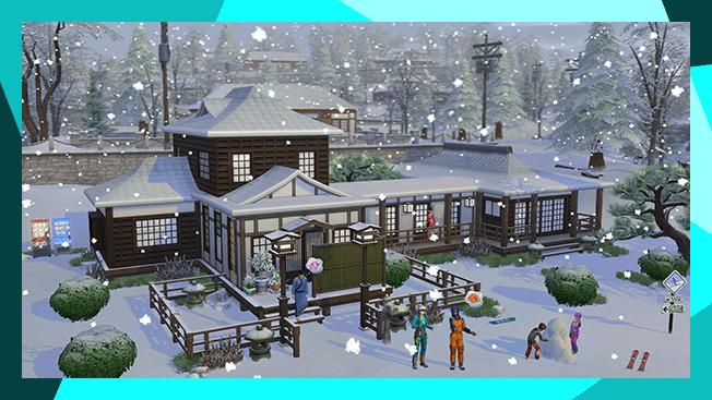 The Sims 4 Snowy Escape - The Sim Architect
