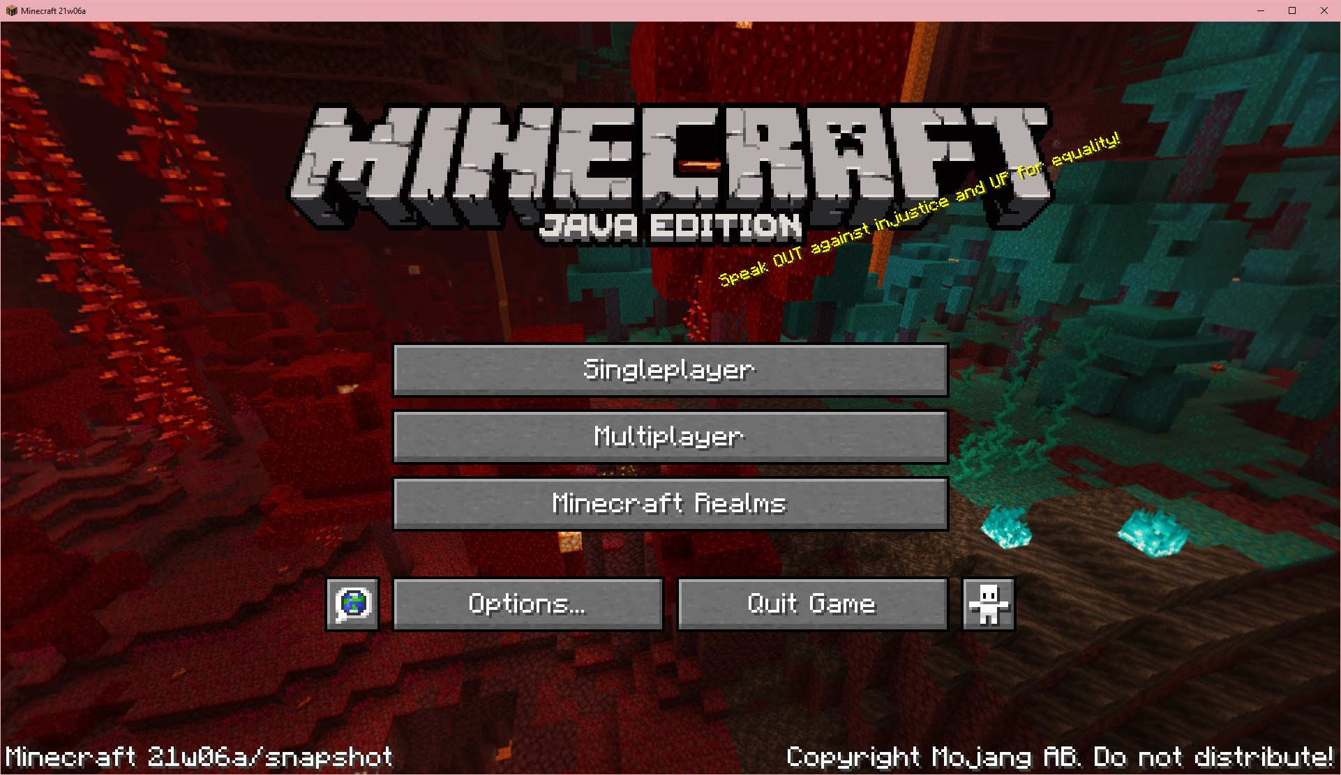 Minecraft 1.17 Caves & Cliffs Update Title Screen