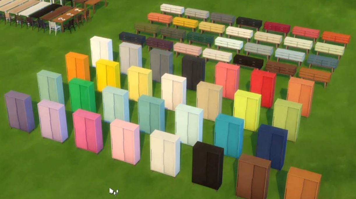 The Sims 4 21st Anniversary Update 1.71.86 New Bedroom Furniture (Wardrobes and Dressers) in Multiple Colors, by peacemaker_ic