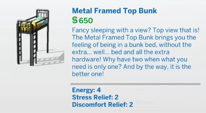 The Sims 4 Bunk Beds Update 1.72.28.1030 - March 23, 2021 - The Sim Architect
