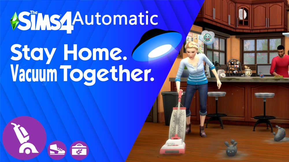 Sims 4 All in One Automatic Bust the Dust, Country Kitchen and Throwback Fit Kits