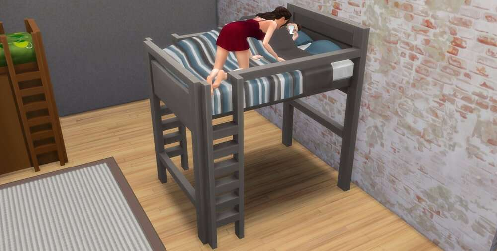The Sims 4 Double Loft Bed