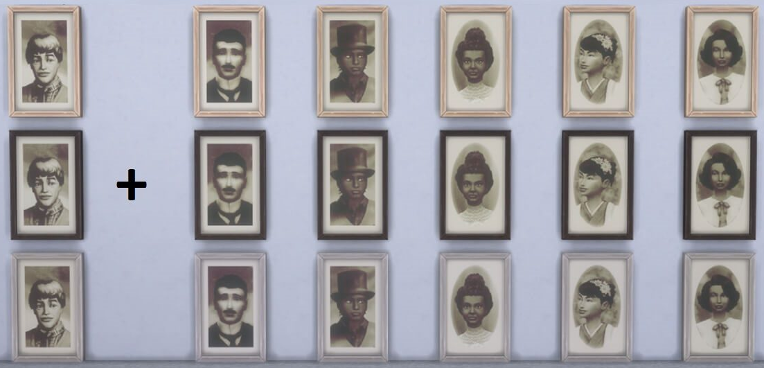 Sims 4 Mystery Poser Antique Portrait