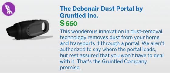 The Sims 4 Bust the Dust - The Debonair Dust Portal Vacuum