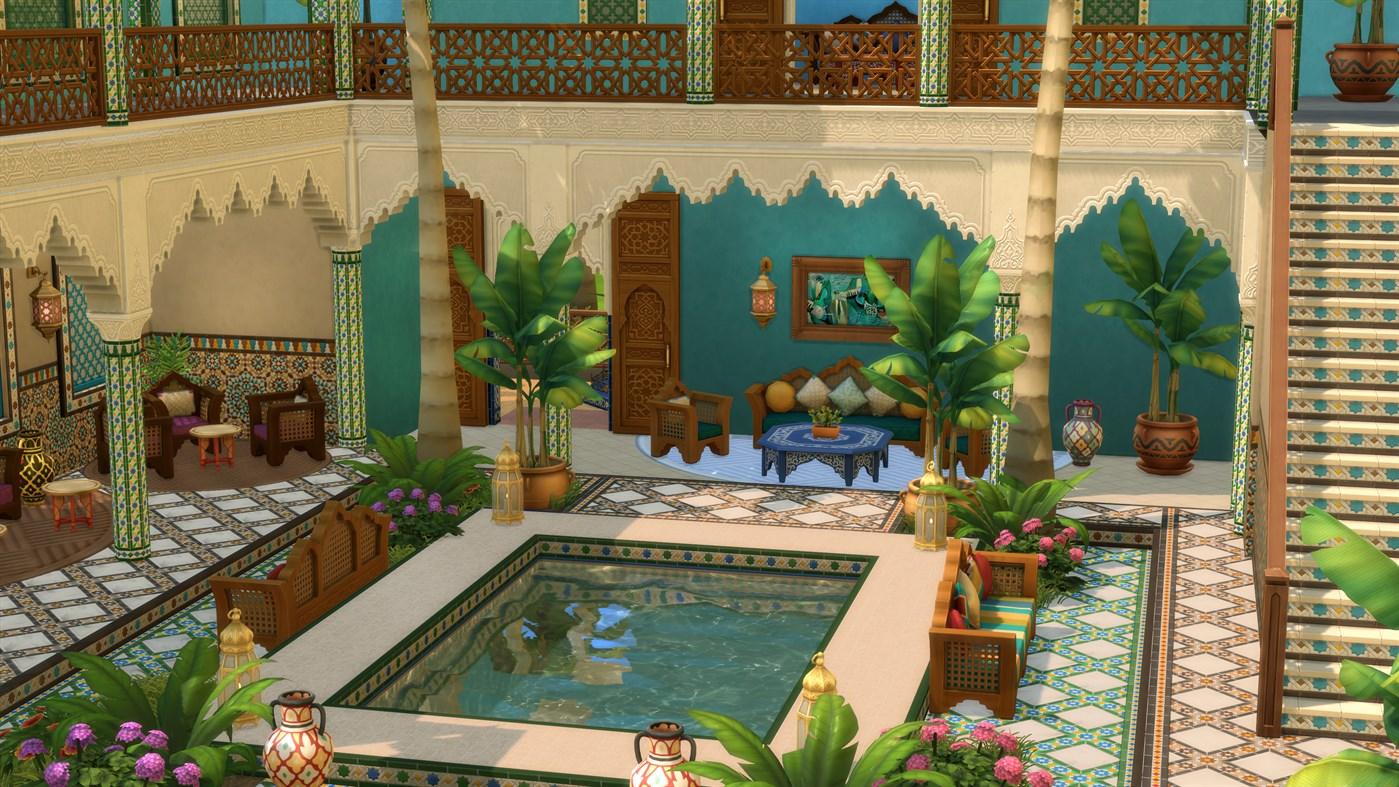 The Sims 4 Courtyard Oasis Kit Screenshot