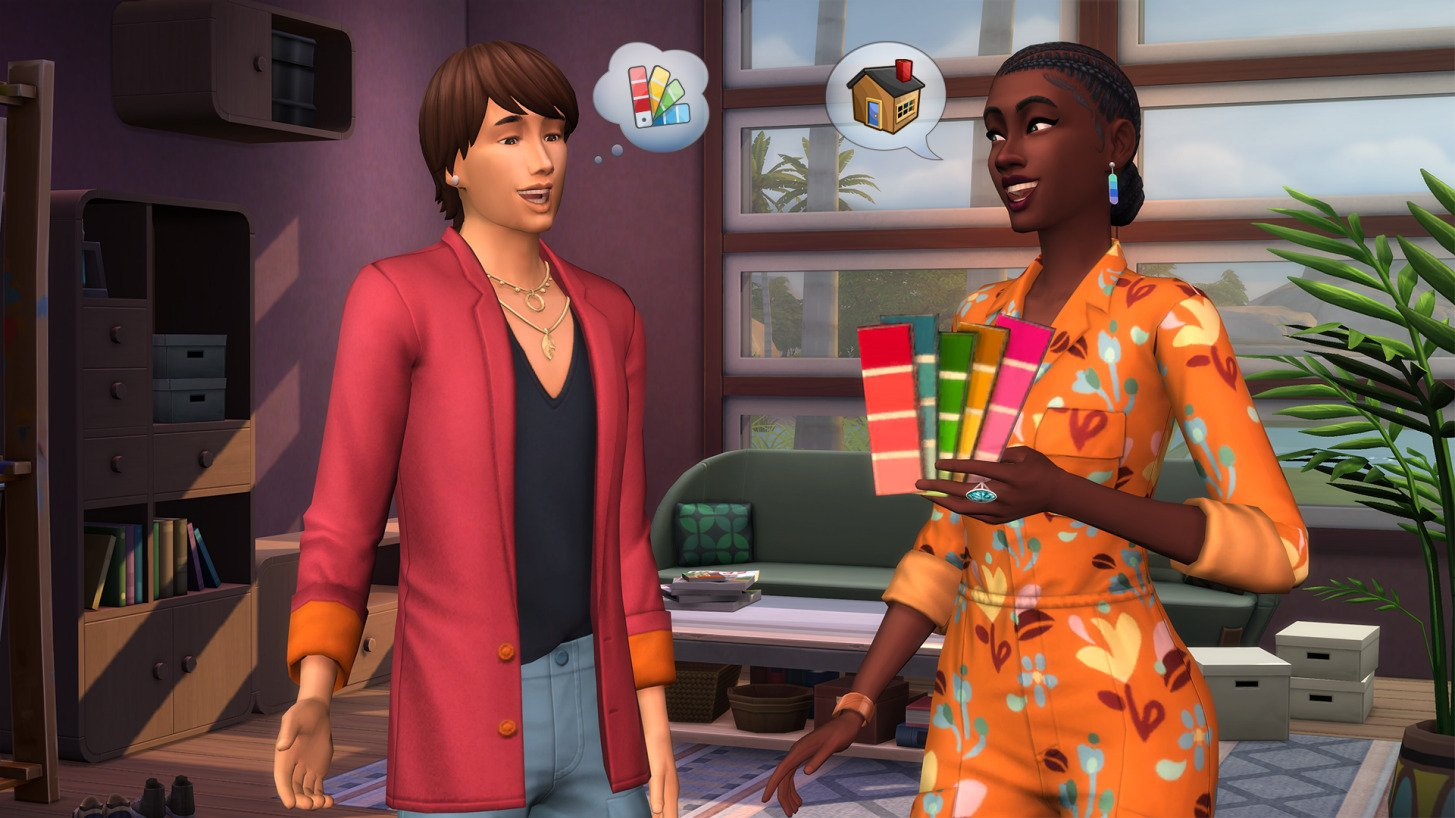 The Sims 4 Dream Home Decorator Talking to Clients
