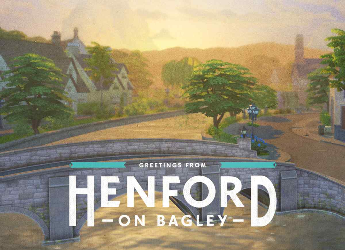 The Sims 4 EP11 Postcard Front Henford on Bagley Crumplebottom