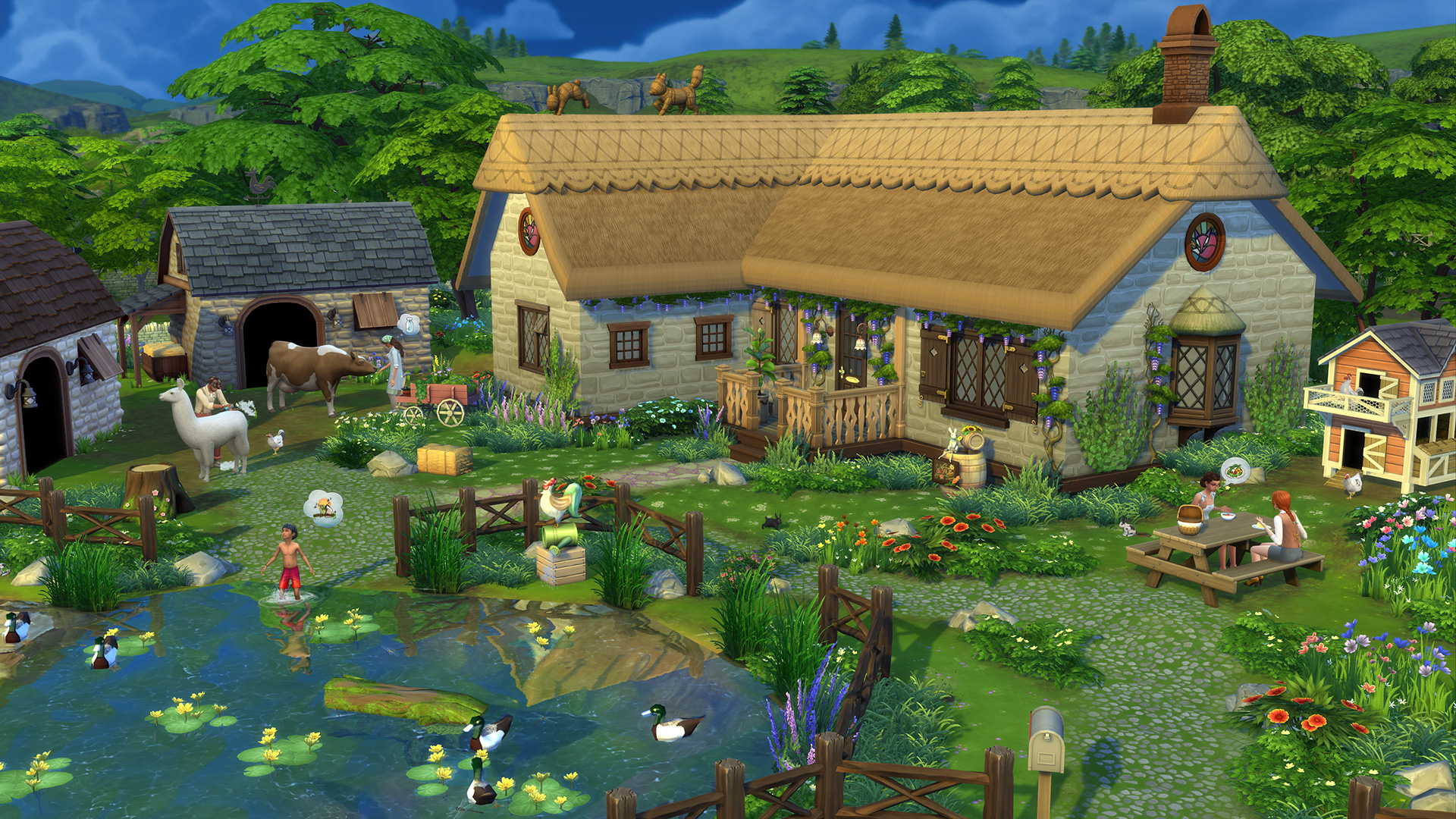 The Sims 4 Cottage Living - Farmhouse
