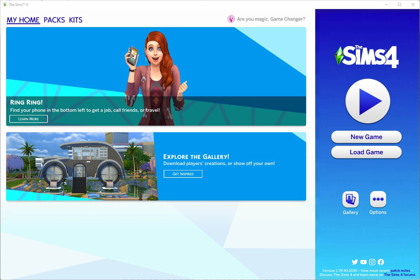 The Sims 4 1.79.93.1030 - Spa Day Refresh - Title Screen - September 7th, 2021