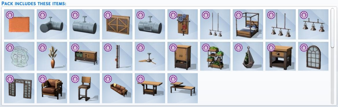 The Sims 4 Industrial Loft Kit - All Included Items