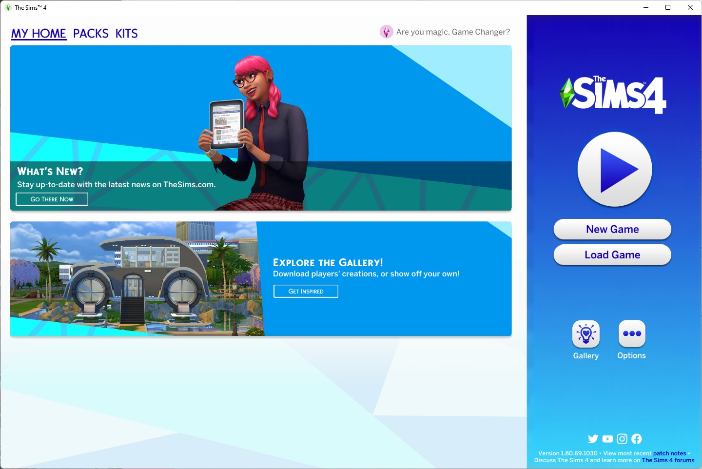 The Sims 4 1.80.69.1030 - Color Swatches Update - Title Screen - September 21st, 2021