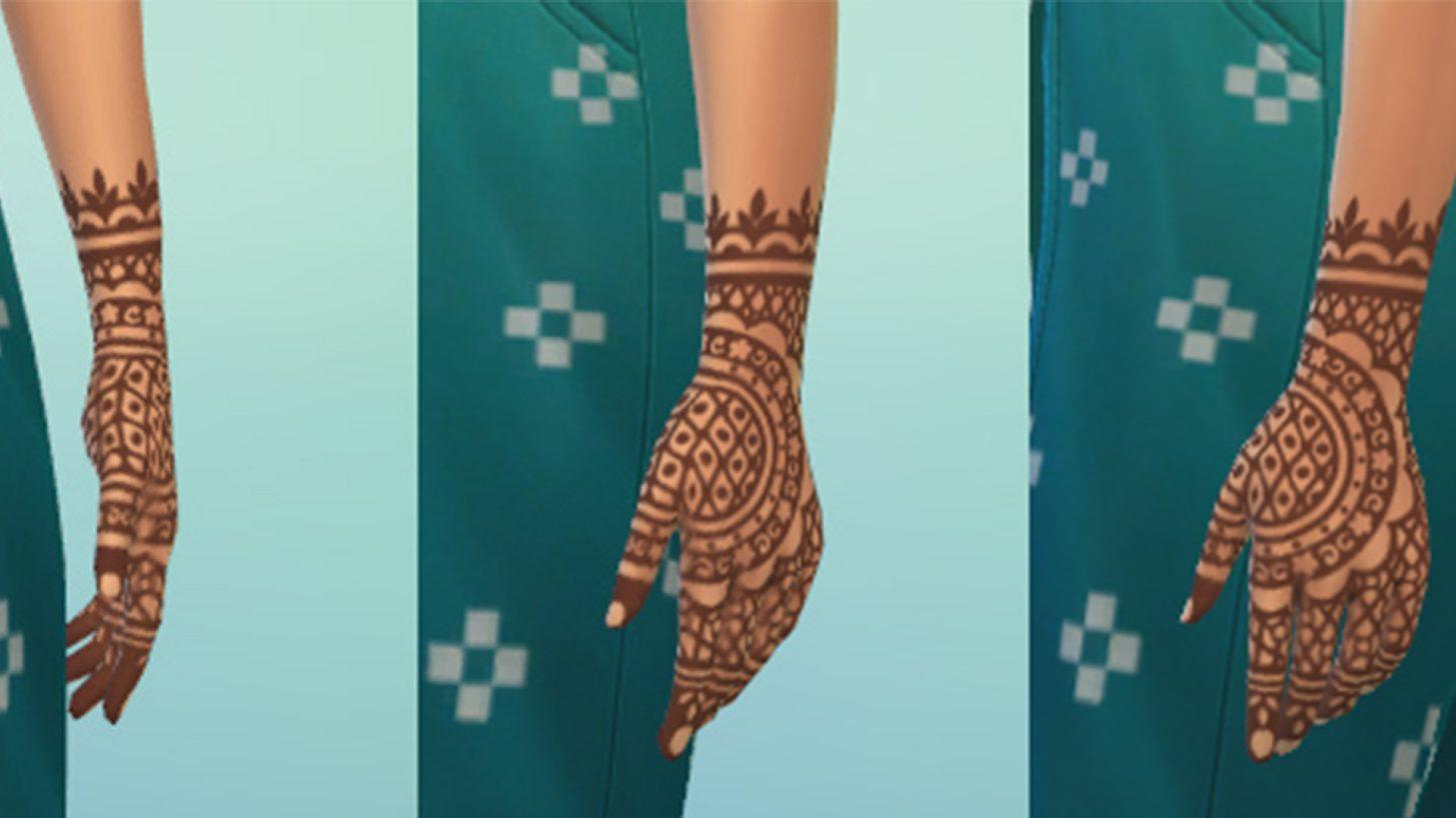 The Sims 4 Fashion Street Kit - Henna Tattoo