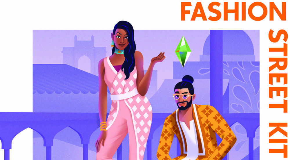 The Sims 4 Fashion Street Kit Pack