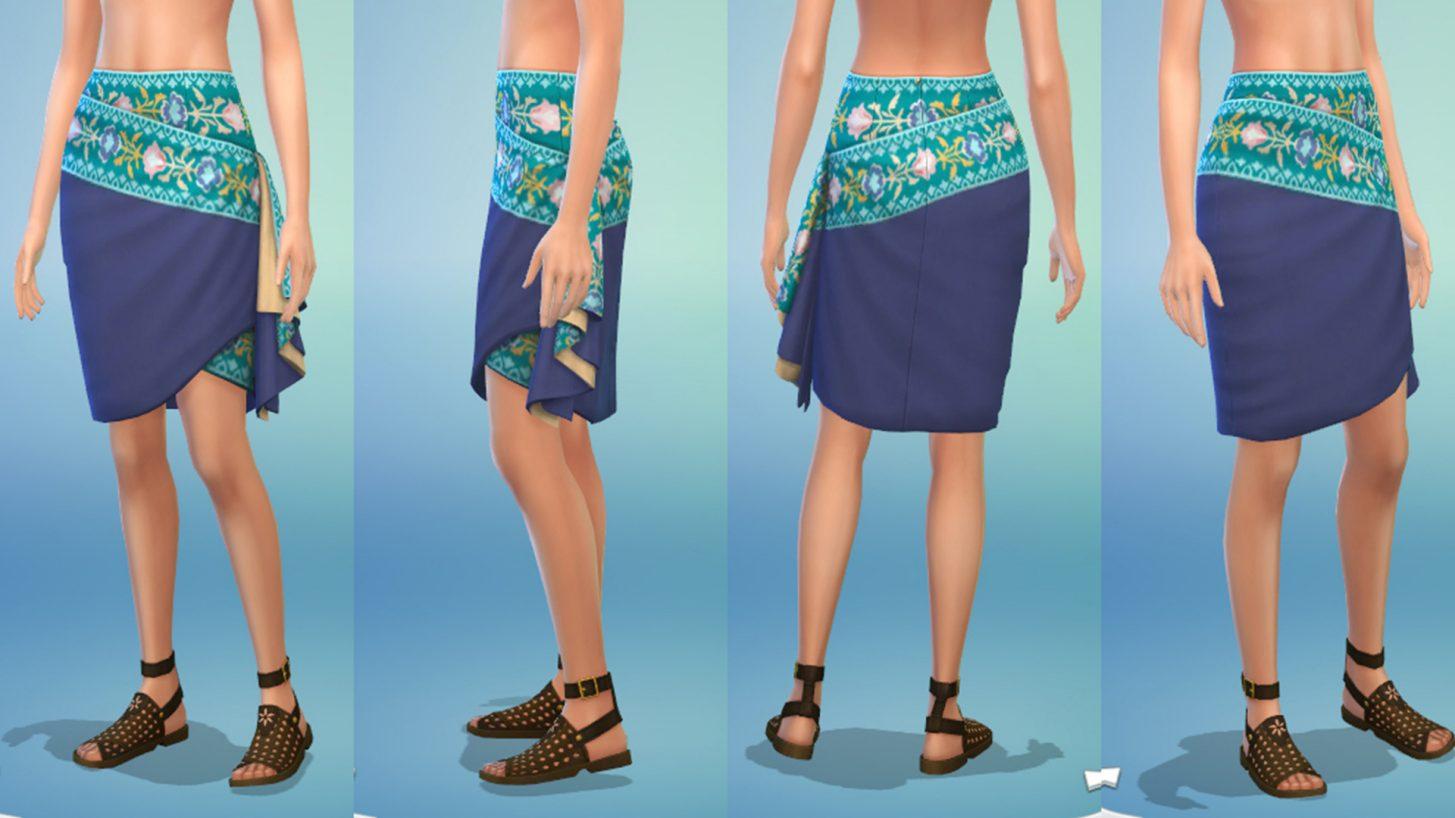 The Sims 4 Fashion Street Kit - Wrap Skirt